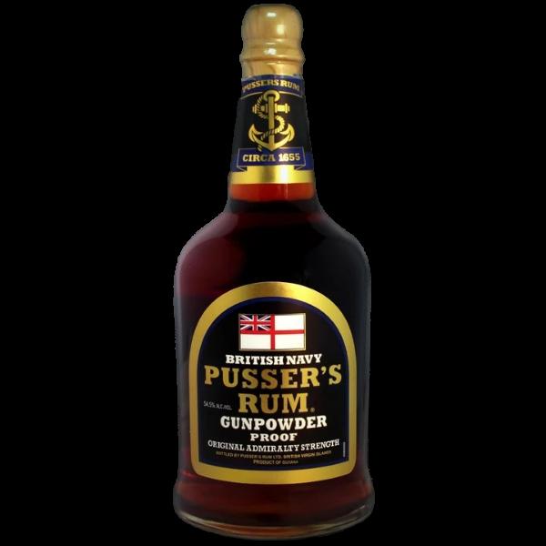 Pusser's Black Label Rum Gunpowder Proof