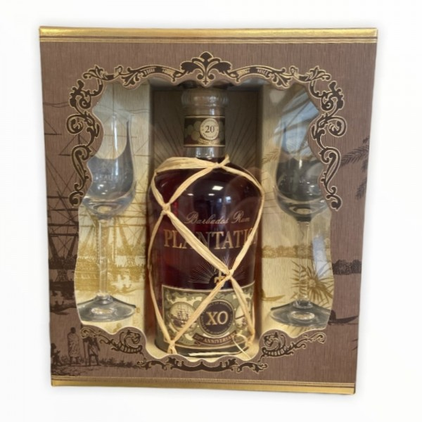 Rum Plantation Barbados Extra Old 20th Anniversary Geschenkset