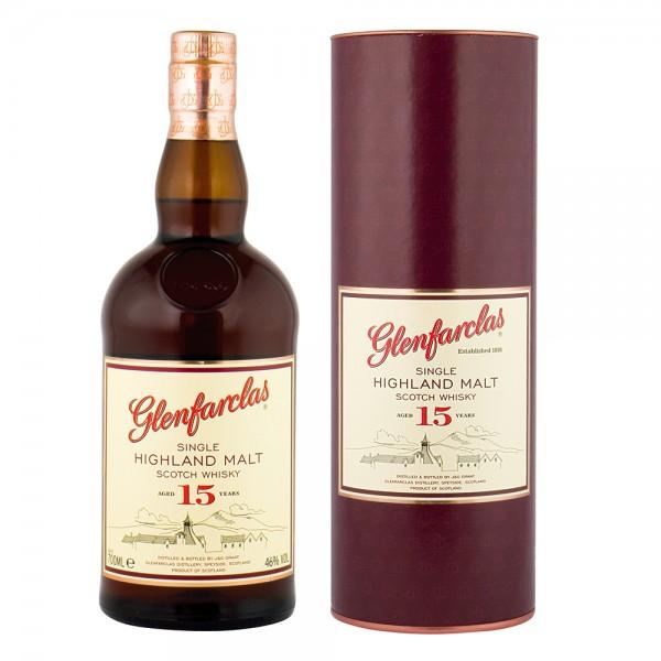 Glenfarclas Highland Single Malt Scotch Whiskey 15 Jahre