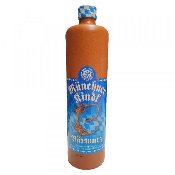 Münchner Kindl Bärwurz in Tonflasche